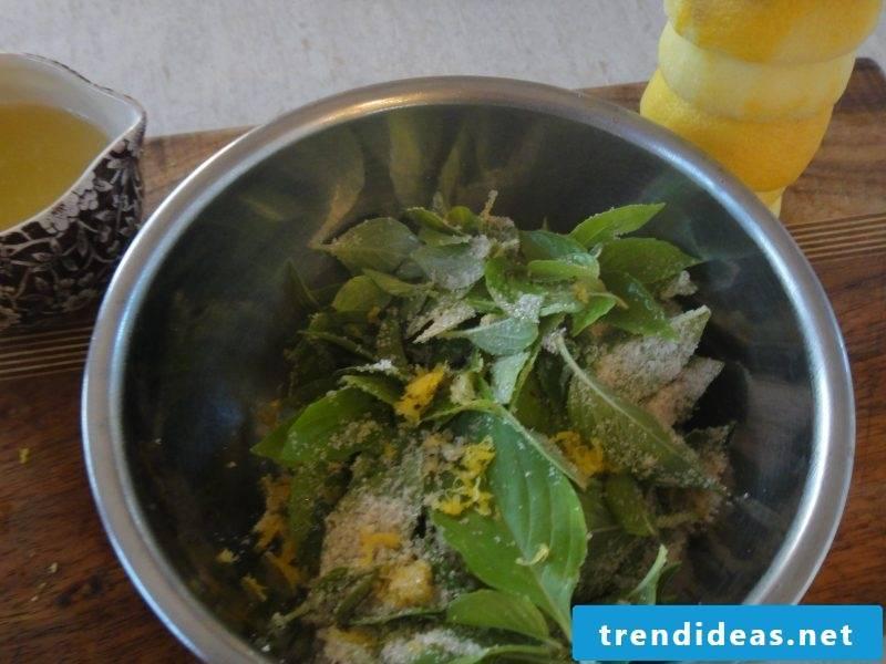 Making lavender lemonade yourself - preparation