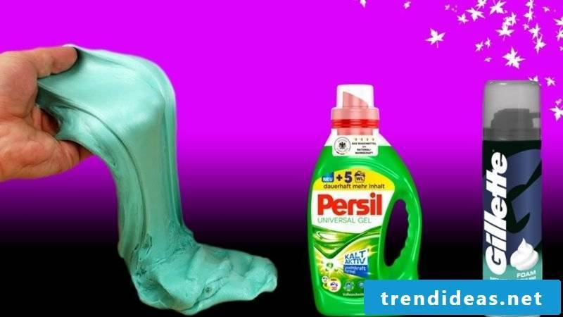 Make mucus yourself with razor foam