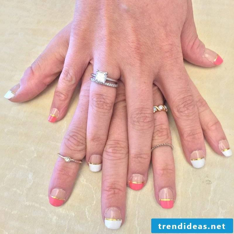 Nail art french tutorial