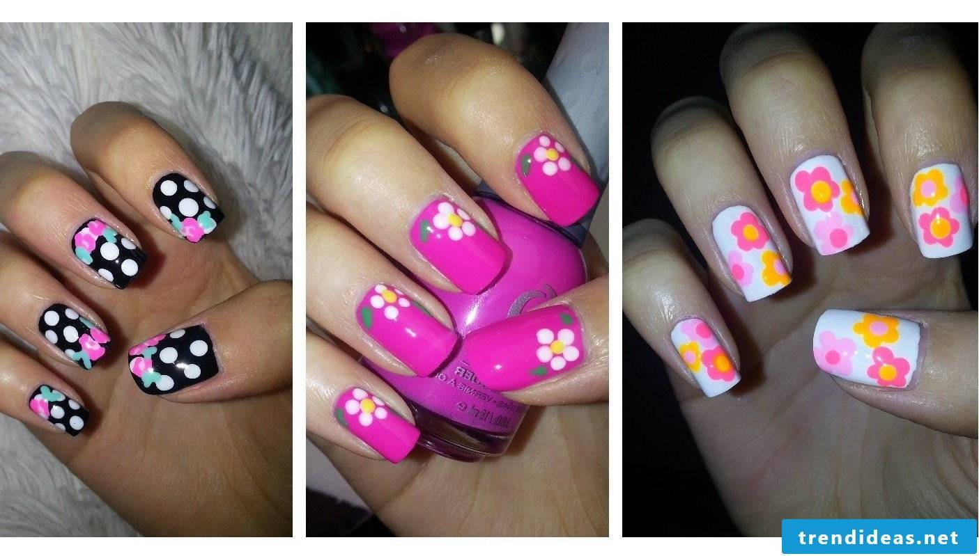 Flower nails - up-to-date and easy to do