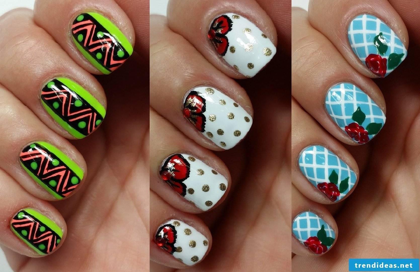 Nail art design easy to make with nail polish