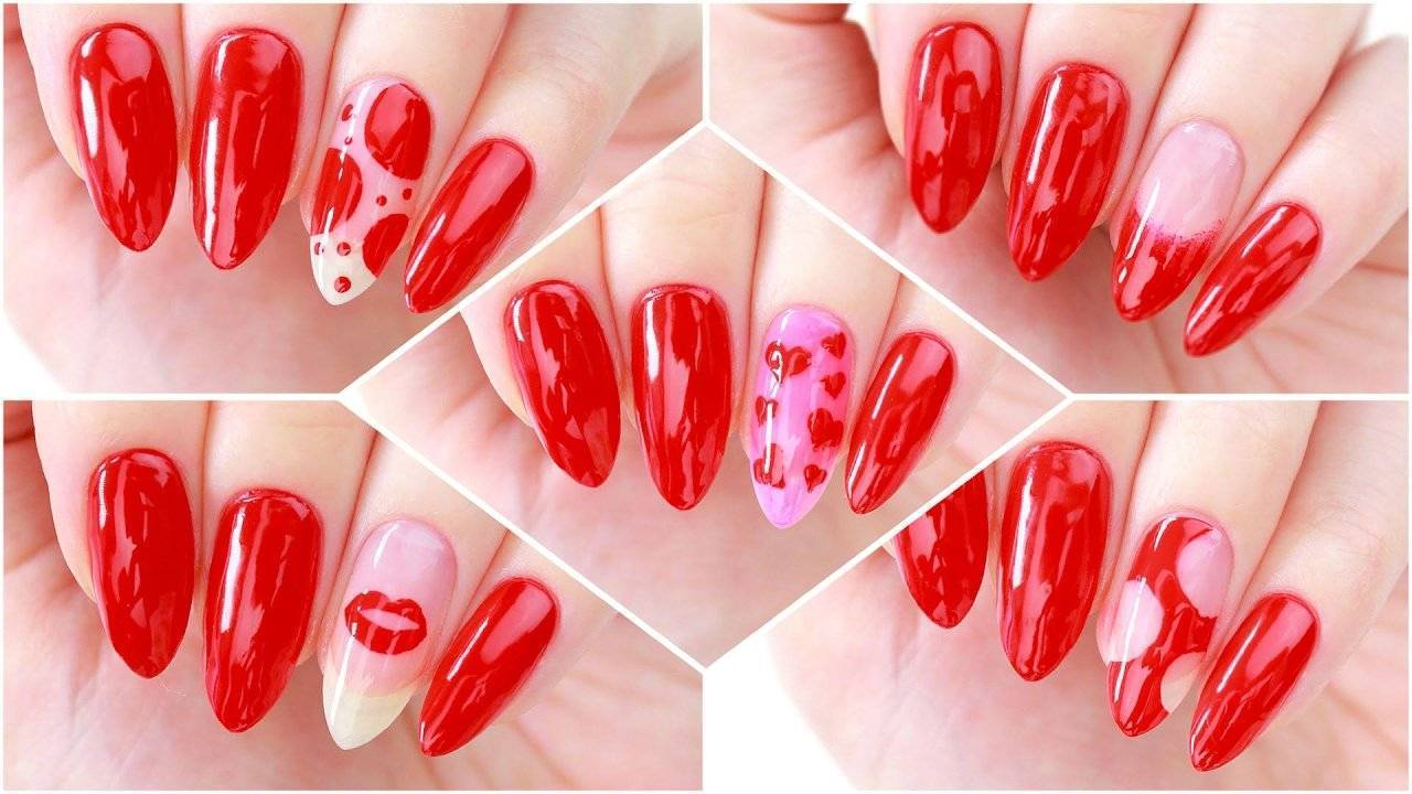 Beautiful nails for Valentine's Day