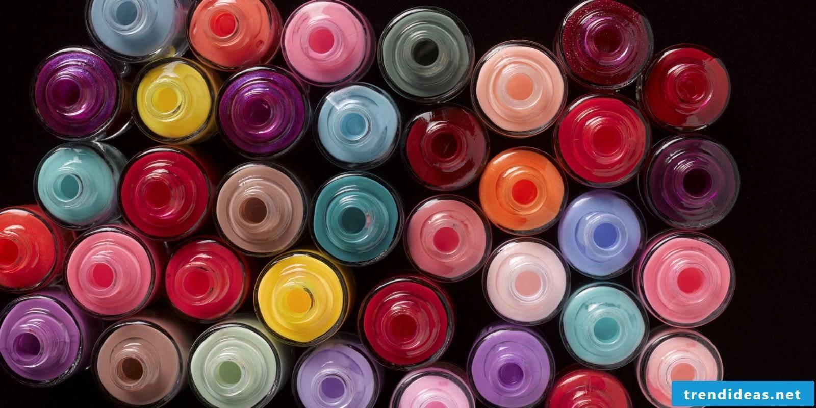 Nail design to make yourself with nail polish
