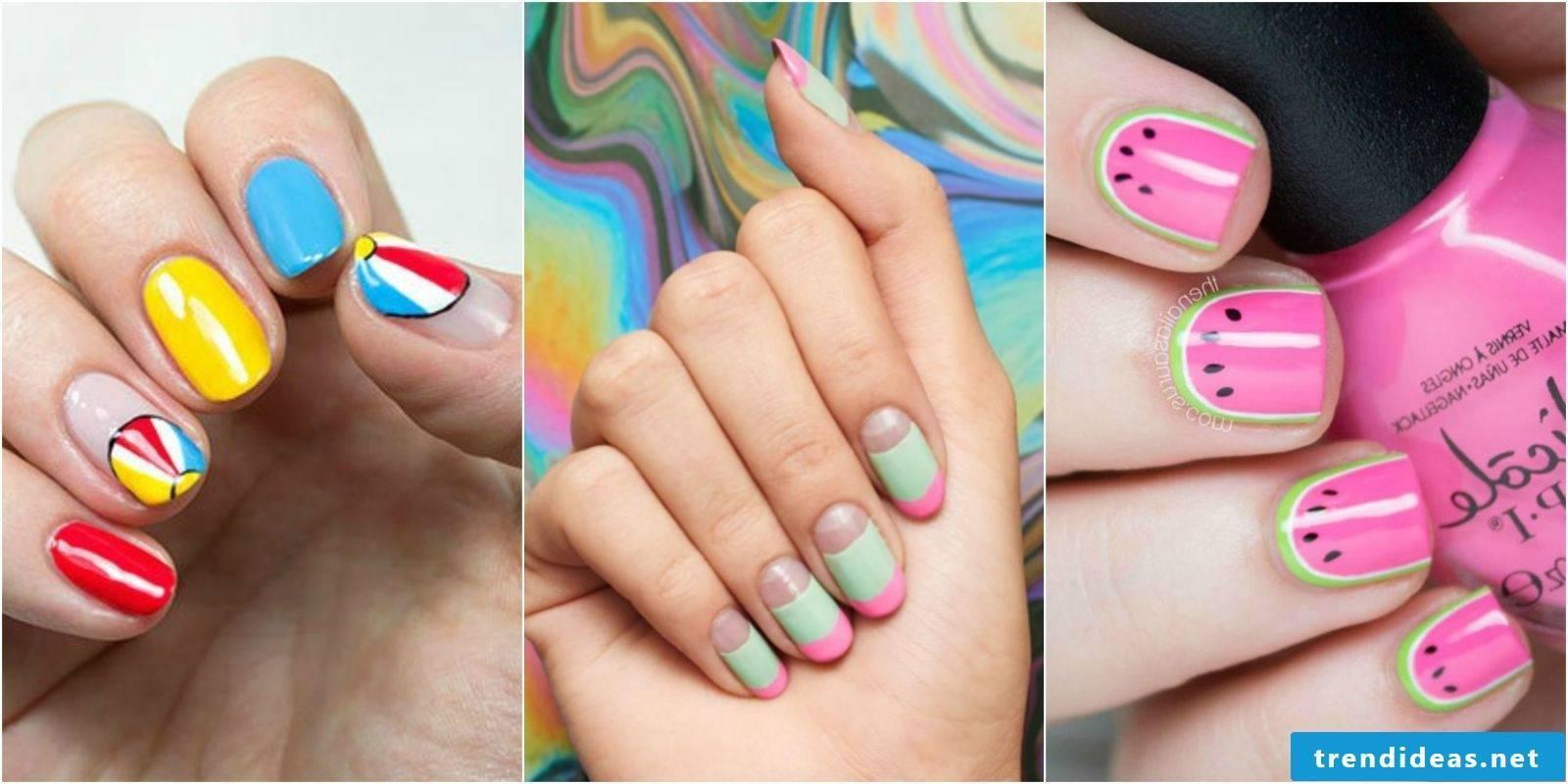 Make funny fingernails at home