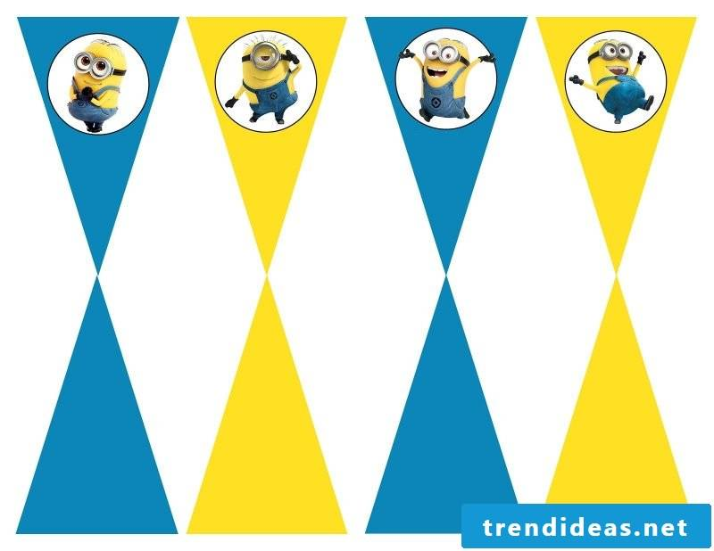 Make the pennant necklace yourself - free templates with minions