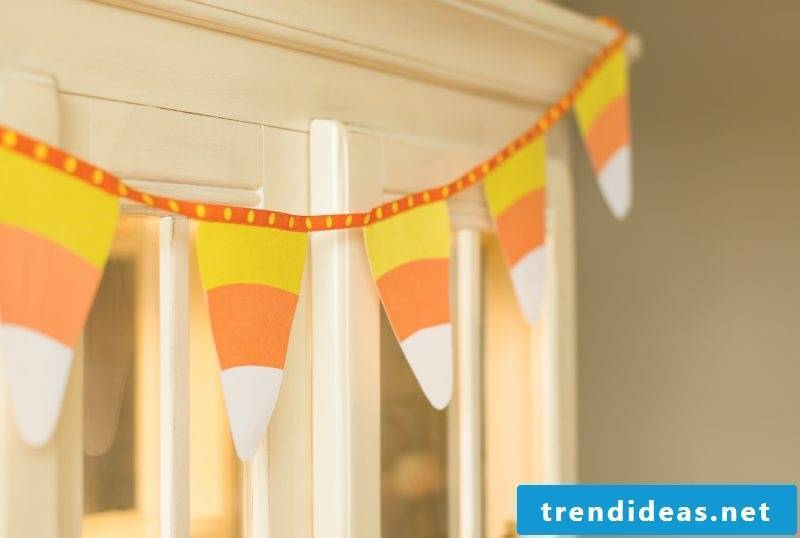 Original nursery decoration with individual pennant chains