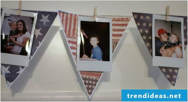 Creative idea for pennant chain with photos - decoration with memories