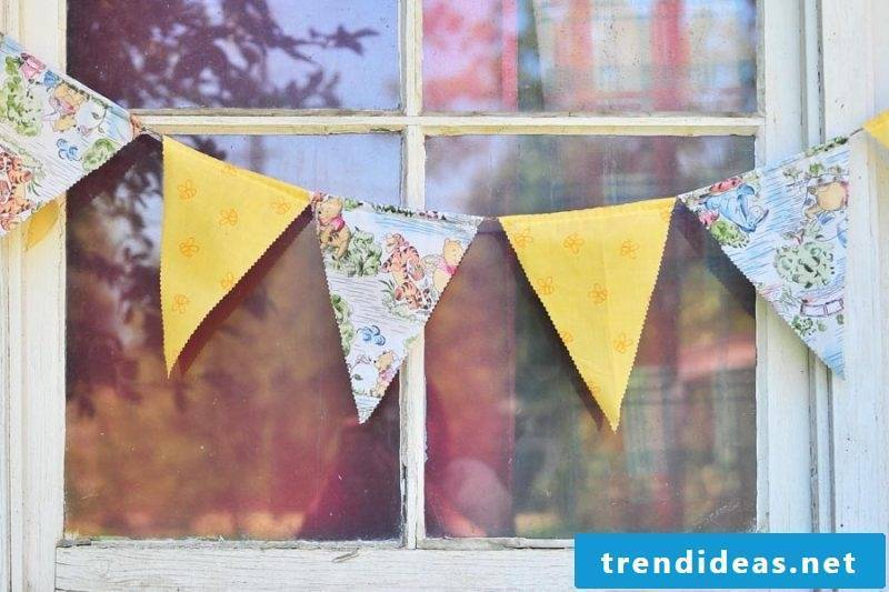 Make the pennant chain yourself: crafts with children