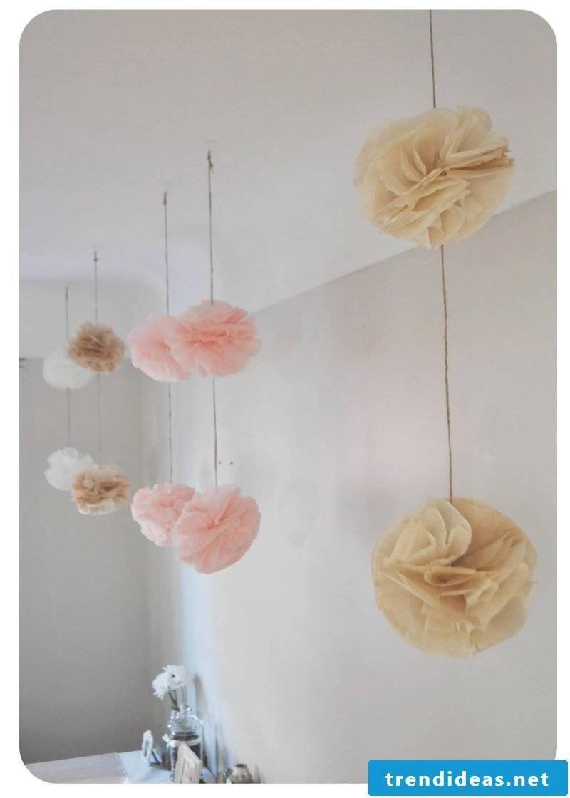 Pompons as a stylish decoration!