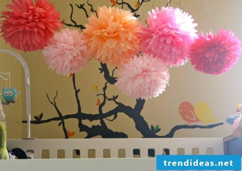 Pompoms in the nursery