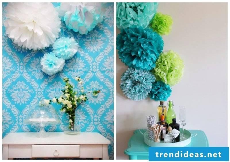 Pompons as decoration