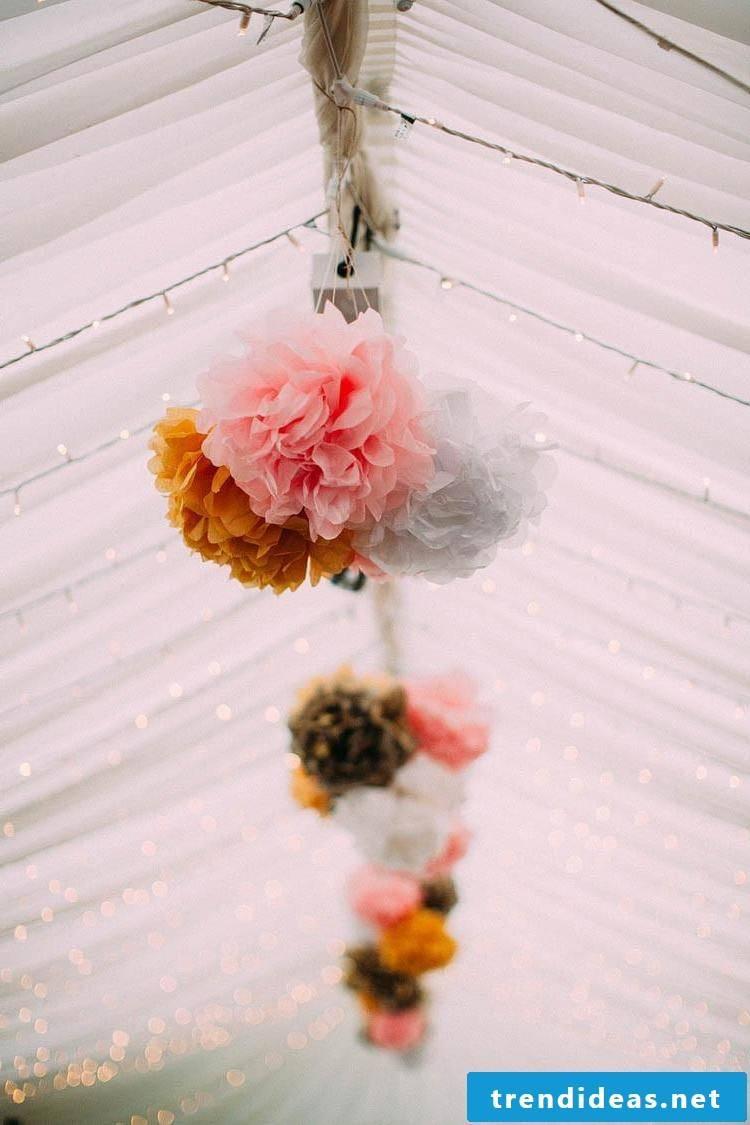 Pompoms for the wedding