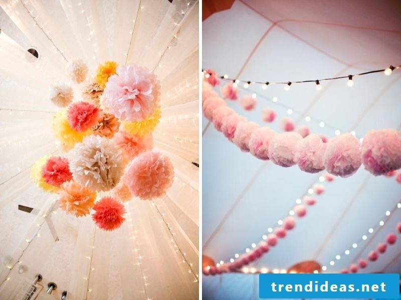 Great pompons as decoration