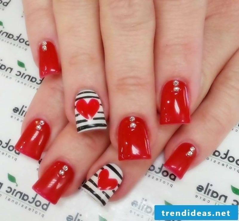 red gel nails original design