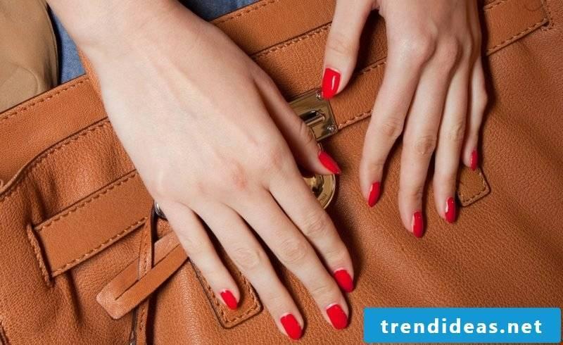 Gel nails Bright red original design