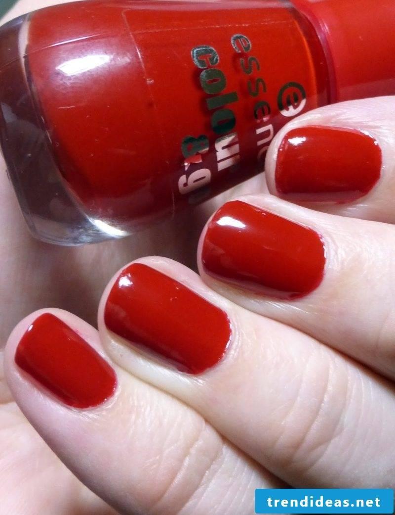 red gel nails creative design ideas