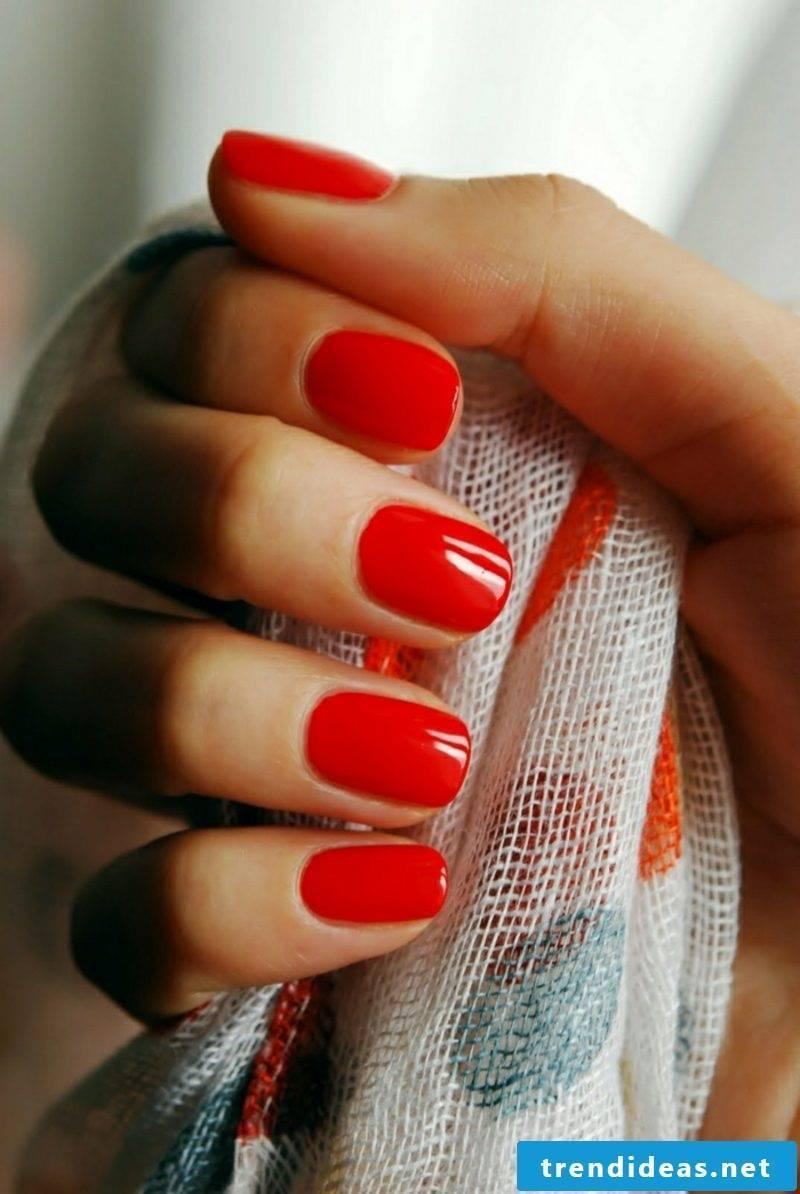 red gel nails elegant look