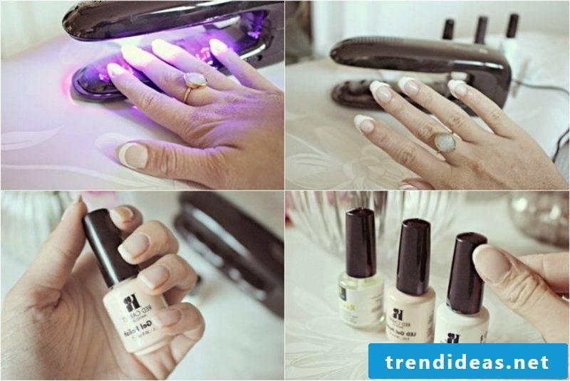 DIY red gel nails