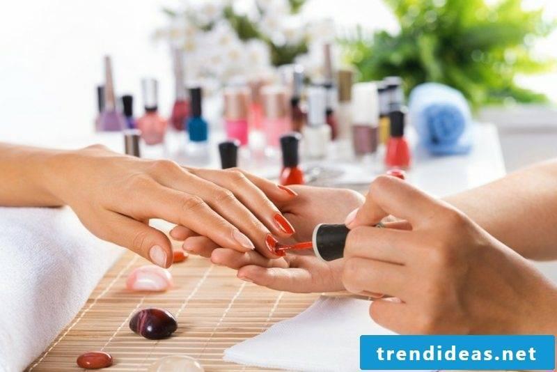 red gel nails creative DIY ideas
