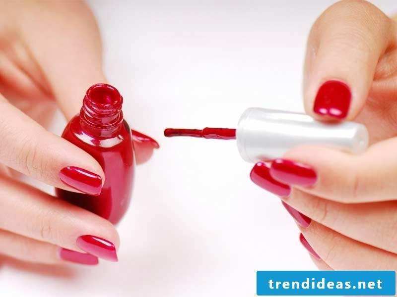 red gel nails creative ideas to make yourself