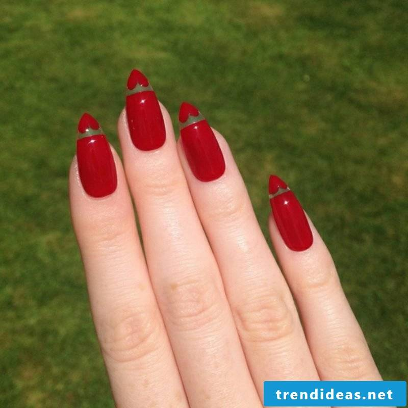 long red gel nails