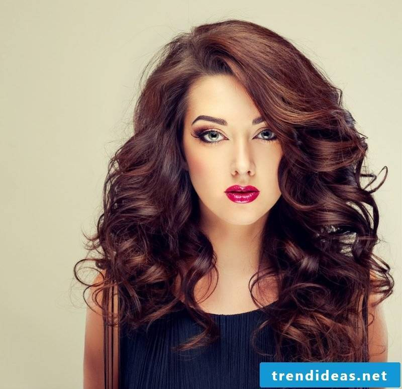 Curls with curling iron