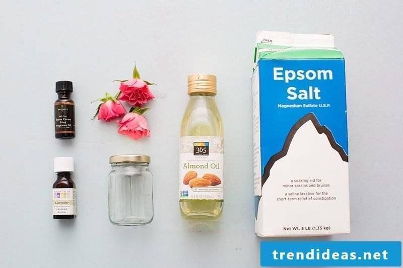Shower gel yourself make DIY body scrub recipe
