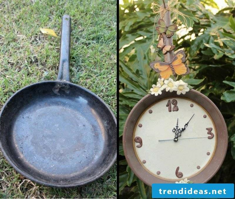 Fancy garden decoration make pan yourself
