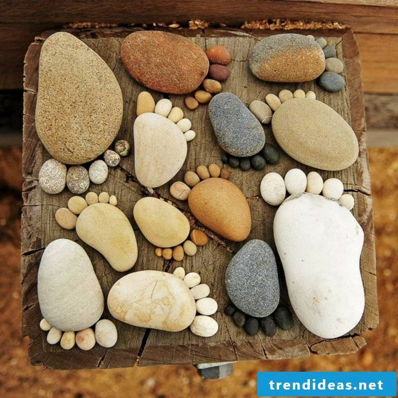 Fancy garden decorations themselves make DIY ideas with stone