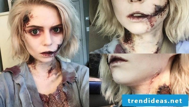 Halloween Costume Zombie Skull make up