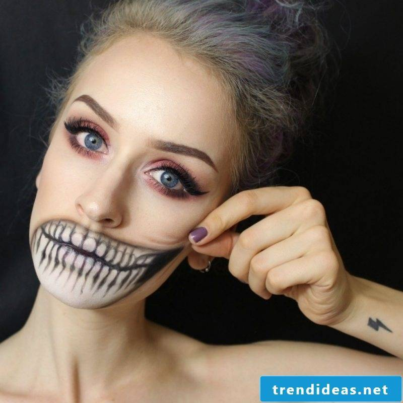 Make-up For Halloween attractive ideas and instructions