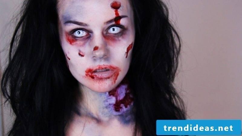 Skull Make Up Halloween Zombie Costume