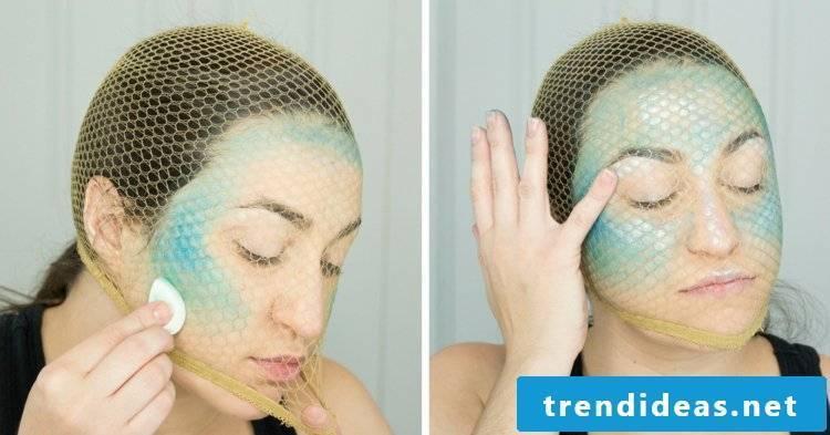 Mermaid costume face painting templates
