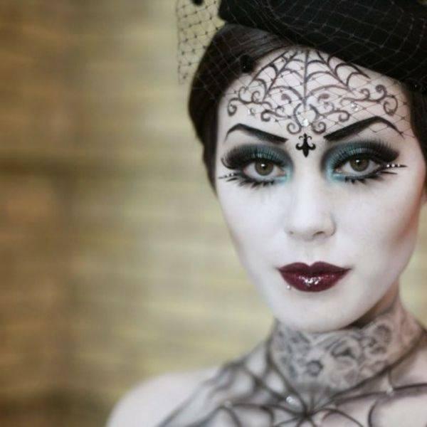 Make-up witch impressive ideas Halloween
