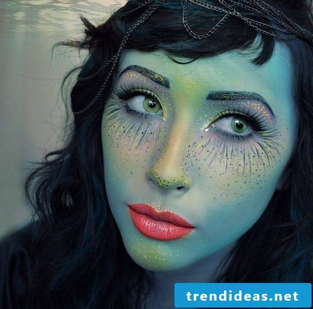 Make-up for halloween attractive witches make-up