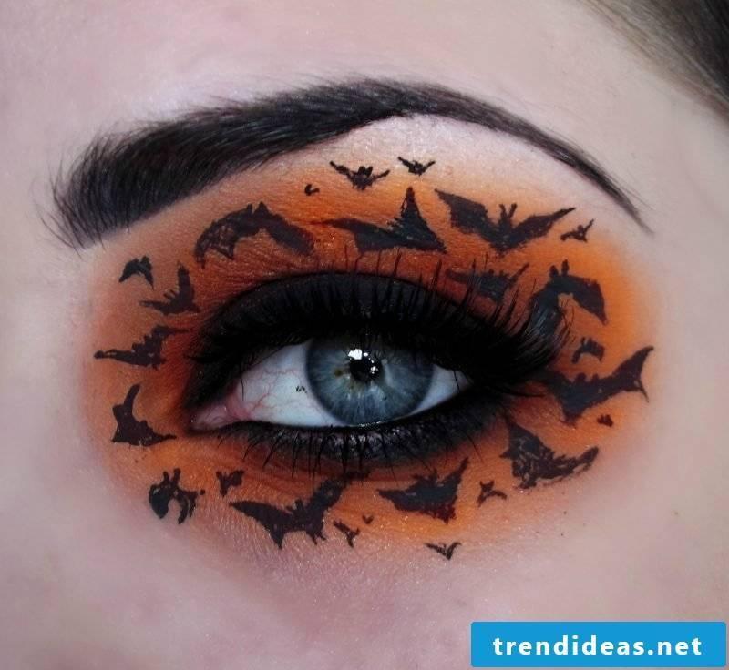 bat make-up orange