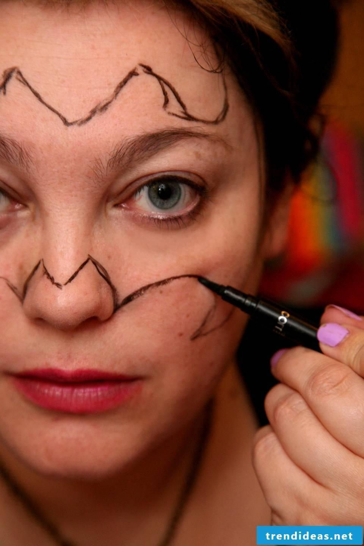 bat make-up creatively