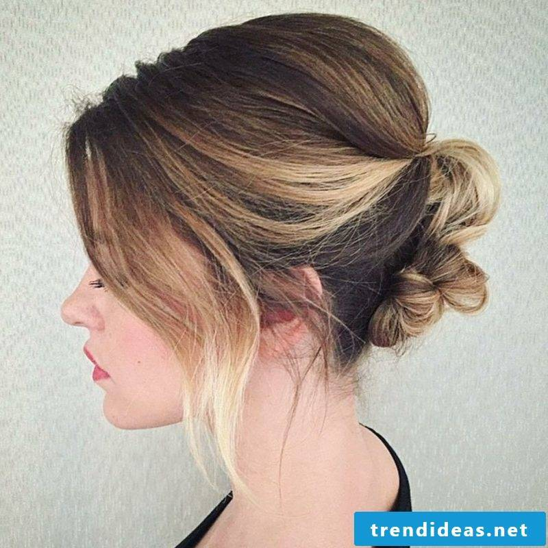 Updos Short Hair Knotted Updo