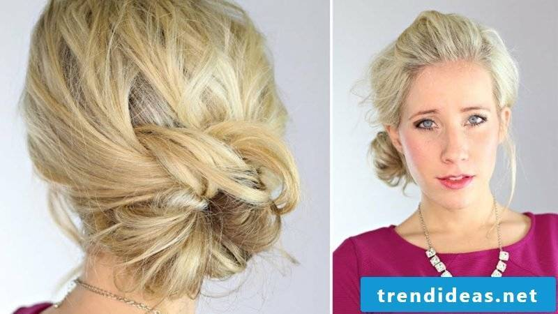 light hairstyles Knotted Updo Hairstyle
