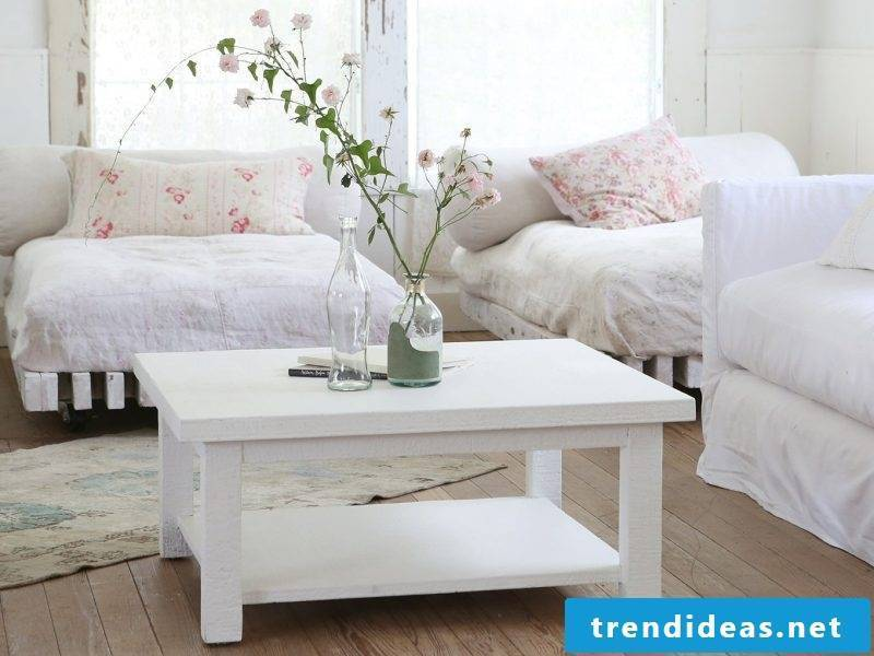 Make vintage furniture yourself, create living room collage create free