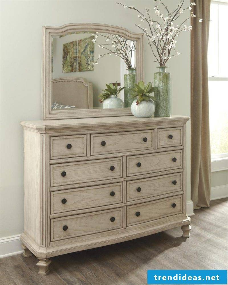 Vintage furniture yourself make mirror cabinet cream color chest of drawers vintage