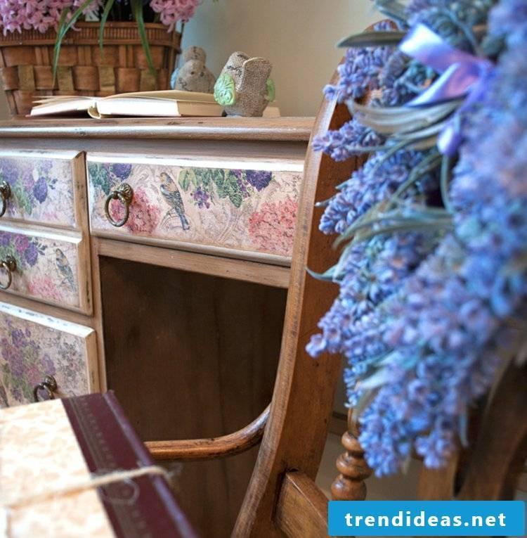 Vintage furniture itself make writing desk look gorgeous Living room wall itself