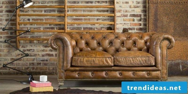 Vintage furniture itself make decor comfortable leather sofa Sabby Chic furniture