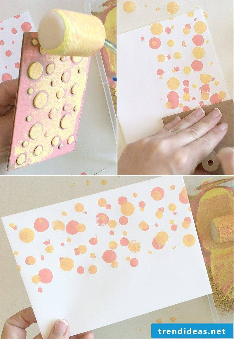 Make dotted envelope and wedding card