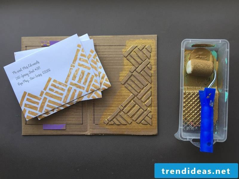 Make patterned envelope and wedding card
