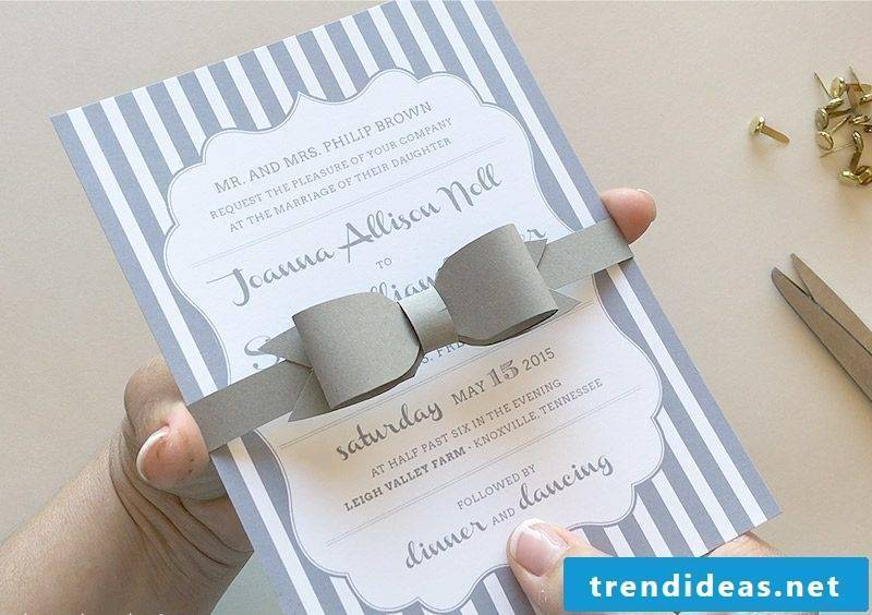 Instructions №4: Make a bow tie for the wedding cards yourself