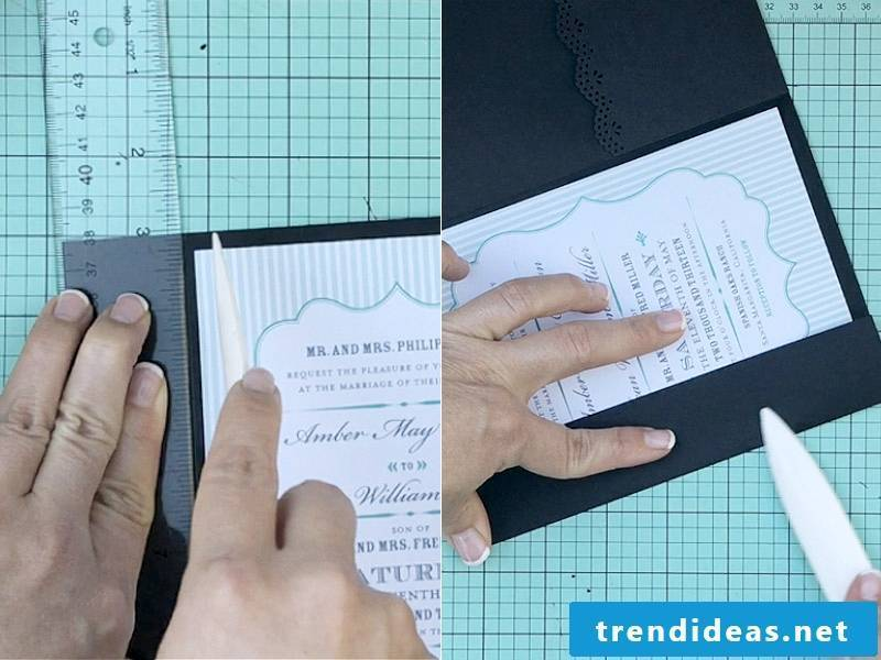 Instructions for Wedding Card Crafting
