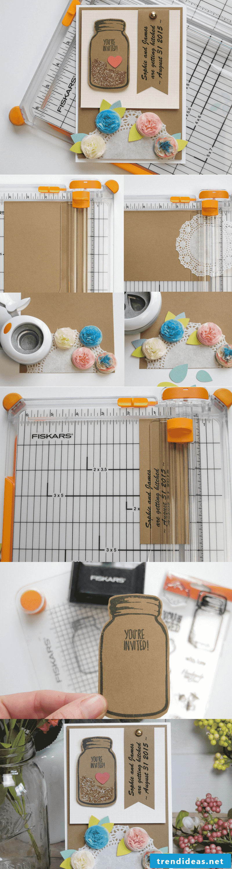 Make DIY idea for wedding cards yourself
