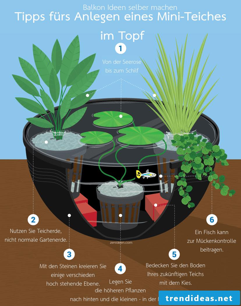 Tips for gardening ideas for little money on the balcony
