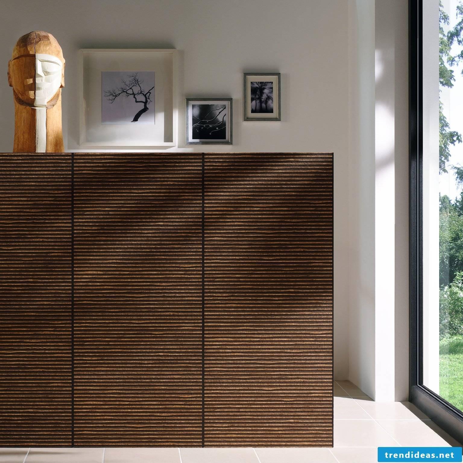 Wallpaper wood look - design tips